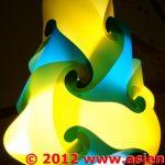 Tropfen-Blau-Gelb